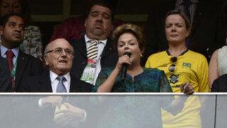 Brasil: abuchean a Dilma Rouseff y Joseph Blatter en Copa Confederaciones