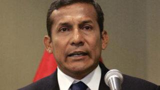 Ollanta Humala exhortó a alcaldes invertir en obras públicas y no monumentos