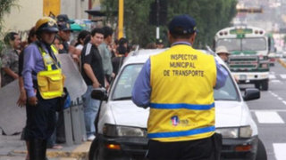 Choferes denuncian extraño operativo de inspectores del Municipio de Lima