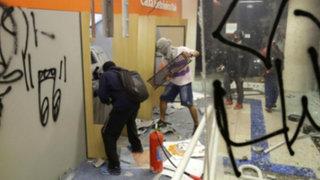 Sao Paulo: incendios y saqueos en protestas contra alza de pasajes