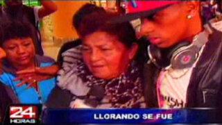 Yordy Reina se despidió entre lágrimas de su familia en Aeropuerto Jorge Chávez