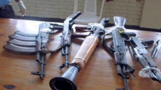 Ejército descubre armas de guerra en una casa de Huancavelica