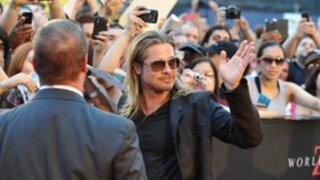 Protestas en Brasil impiden que Brad Pitt asista a estreno de Guerra Mundial Z