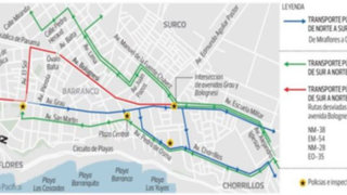 Conozca las nuevas rutas en Barranco tras el reordenamiento vehicular