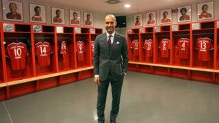 Bayern Munich presentó oficialmente a Guardiola como su nuevo entrenador