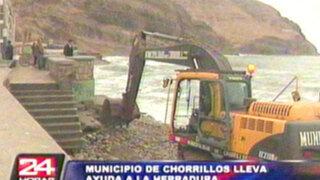 Chorrillos: Municipalidad colocó piedras para evitar colapso en edificio 'Las Gaviotas'