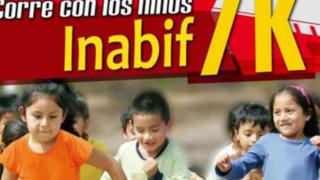 Inabif 7K: Carrera Solidaria brindará mas oportunidades a niños con discapacidad