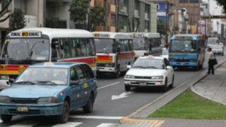 Sólo vehículos concesionados recorrerán avenidas Arequipa, Tacna y Garcilaso
