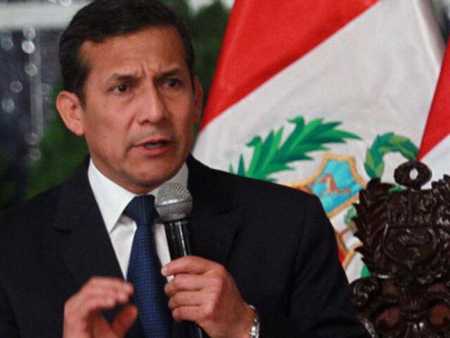 Ollanta Humala pide a los medios 15 a 20 minutos de noticias positivas