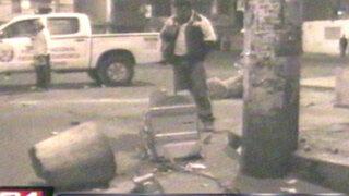 Los Olivos: ladrones escapan luego de frustrado robo a cajero automático