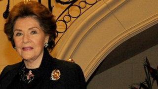 Falleció esposa del ex candidato presidencial Javier Pérez de Cuéllar
