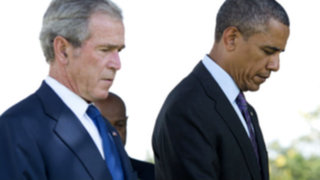 Barack Obama terminó junto a George W. Bush su gira por África