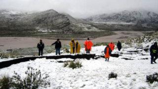 Pronostican caída de nevadas y lluvias en la sierra central y sur del país