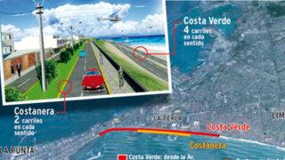 Nueva 'Costa Verde' del Callao permitirá ir de La Punta a Chorrillos en 25 minutos