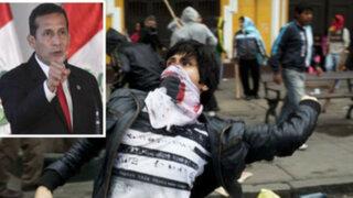 """Ollanta Humala sobre universitarios que marchan encapuchados: """"Parecen delincuentes"""""""