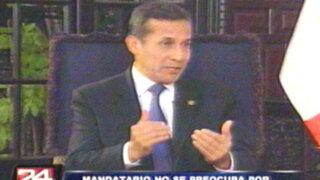 Ollanta Humala asegura que no habrá cambio de ministros este 28 de julio