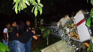 Caída de helicóptero en Tingo María se habría debido a fallas mecánicas