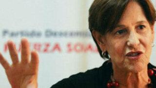 Alcaldesa Susana Villarán prefiere ya no hablar de Pilar Freitas