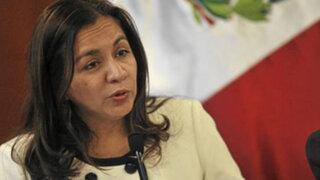 Vicepresidenta Espinoza negó enfrentamiento entre Ejecutivo y TC