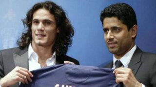 PSG presentó a Edinson Cavani como nuevo delantero