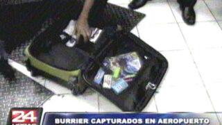 Capturan a 'burriers' con varios  kilos de coca en aeropuerto Jorge Chávez
