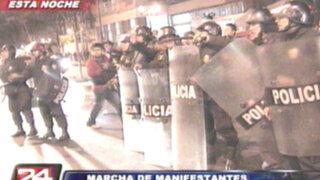 VIDEO: detienen a 11 manifestantes en protesta contra la 'repartija'