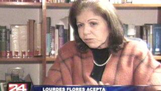Lourdes Flores reconoce que su bancada pudo frenar la 'repartija'