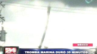 VIDEO: torbellino marino sorprendió a cientos de habitantes en México