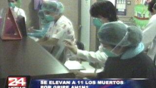 Temible gripe AH1N1 cobró su onceava víctima y se extiende al interior del país