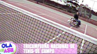 María Castillo relata su historia como campeona de tenis en silla de ruedas