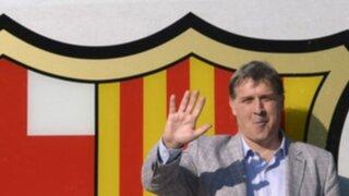 """Presentación oficial del """"Tata"""" Martino como DT del Barcelona"""