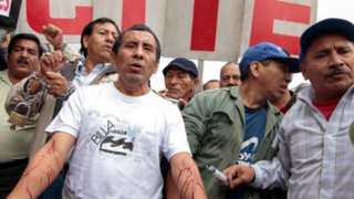 Plaza San Martín: Manifestantes se desangran en protesta por Ley Servir