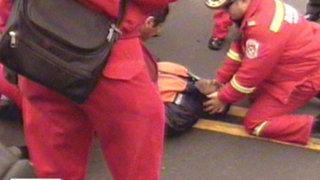 Periodista sufre accidente de consideración durante cobertura del Desfile Militar