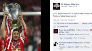 Club Bayern Munich saludó al Perú por los 192 años de independencia