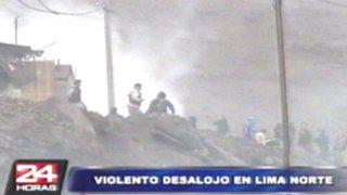 Desalojan a invasores en el Km 35 de la Panamericana Norte