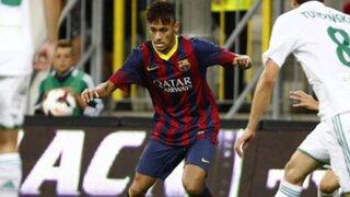 Neymar se estrenó en empate entre el Barcelona y el Lechia Gdansk en Polonia