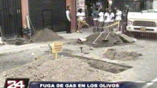 Fuga de gas natural generó alarma en centros comerciales de Los Olivos