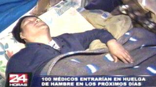 Médicos radicalizan huelga de hambre incluso arriesgando su salud