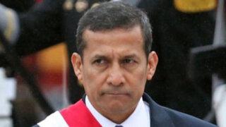 Ollanta Humala no teme investigación en el Congreso por caso Obregón