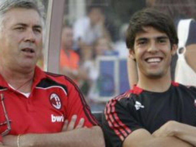 Carlo Ancelotti pide la permanencia de Kaká en el Real Madrid