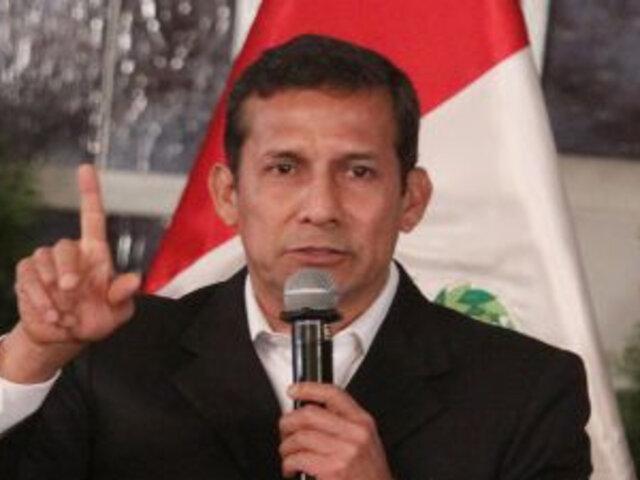 Humala: El balance lo hacen los especialistas, yo me encargo de gobernar