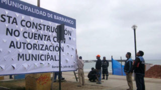 Municipalidad de Barranco paraliza construcción de muelle en Costa Verde
