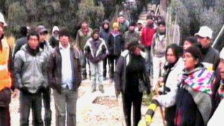 Pobladores bloquean acceso a centro minero de Casapalca