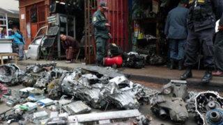 Policía inicia operativo en el mercado informal de autopartes San Jacinto