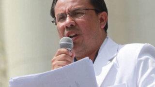 César Palomino: Hay la mejor disposición para levantar la huelga médica