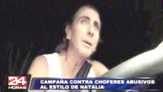 VIDEO: Natalia Málaga sale a combatir contra choferes abusivos