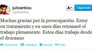 Julio Arbizu se convirtió en otra víctima de la temible gripe AH1N1