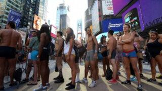 Nueva York se desnuda para celebrar el Día de la Ropa Interior