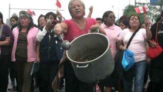 Madres del Vaso de Leche exigen mayor presupuesto