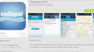 Sedapal lanza aplicación gratuita para dispositivos con sistema Android